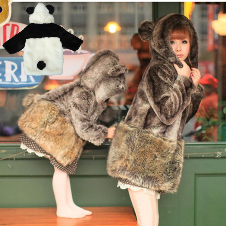 6f30373132d Fashion Family Look Matching Outfits Girls Hoodies Mom   Daughter Jackets  Girl And Mother Outerwear Winter Imitation Fur Coat