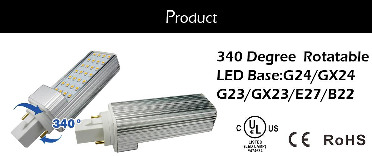 12 W G24q PL-C Horizontale Einbau Licht 26 W CFL Lampe Gleichwertig Gx24 4-Pin Basis Led-lampe