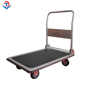 China Stainless Steel Good Prices Platform Pellet Hand Trolley