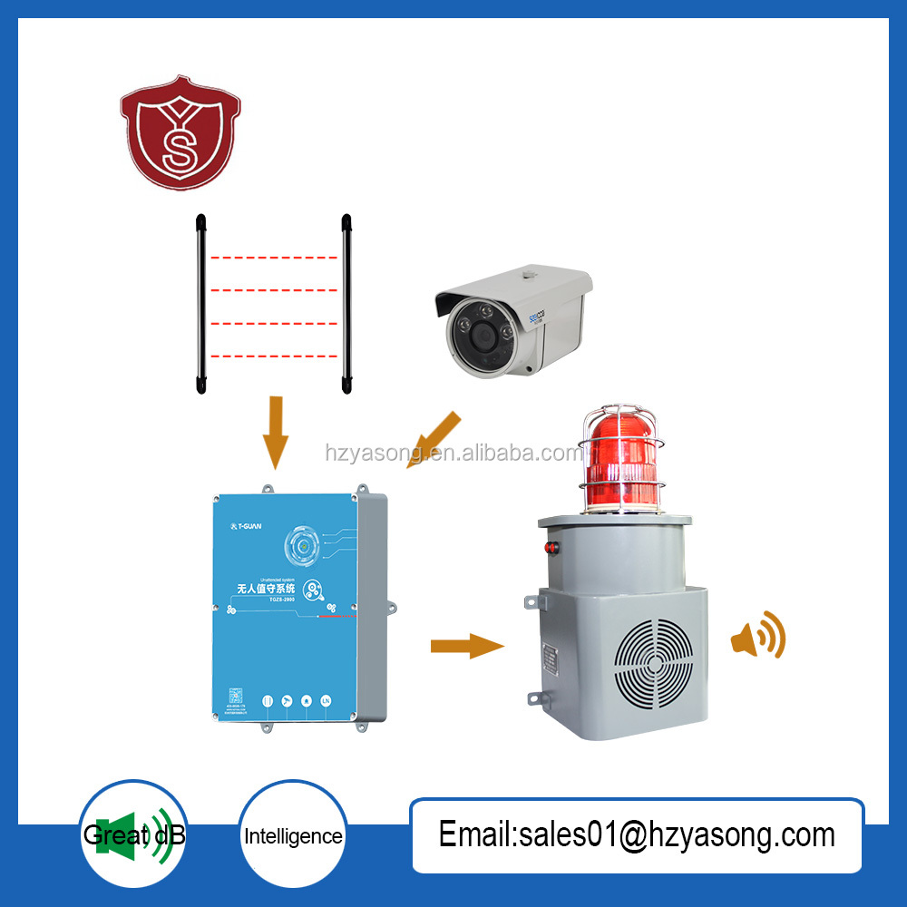 YSZS-A Unattended security alarm system Infrared on - beam safety system