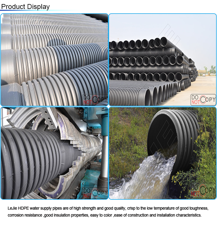 10 Inch Large Diameter Pe Siphon Corrugated Drainage Pipe - Buy Pe Siphon  Drainage Pipe,Large Diameter Corrugated Drainage Pipe,10 Inch Drain Pipe