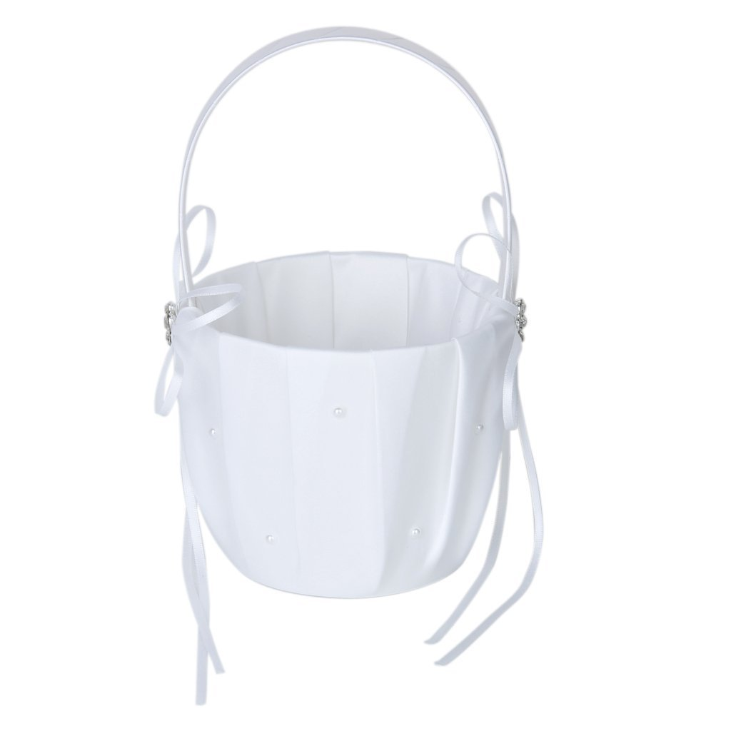 Cheap White Satin Flower Girl Basket Find White Satin Flower Girl