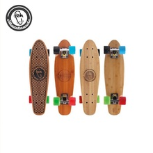 OEM Popular wholesale Fish strong bamboo wood skateboard