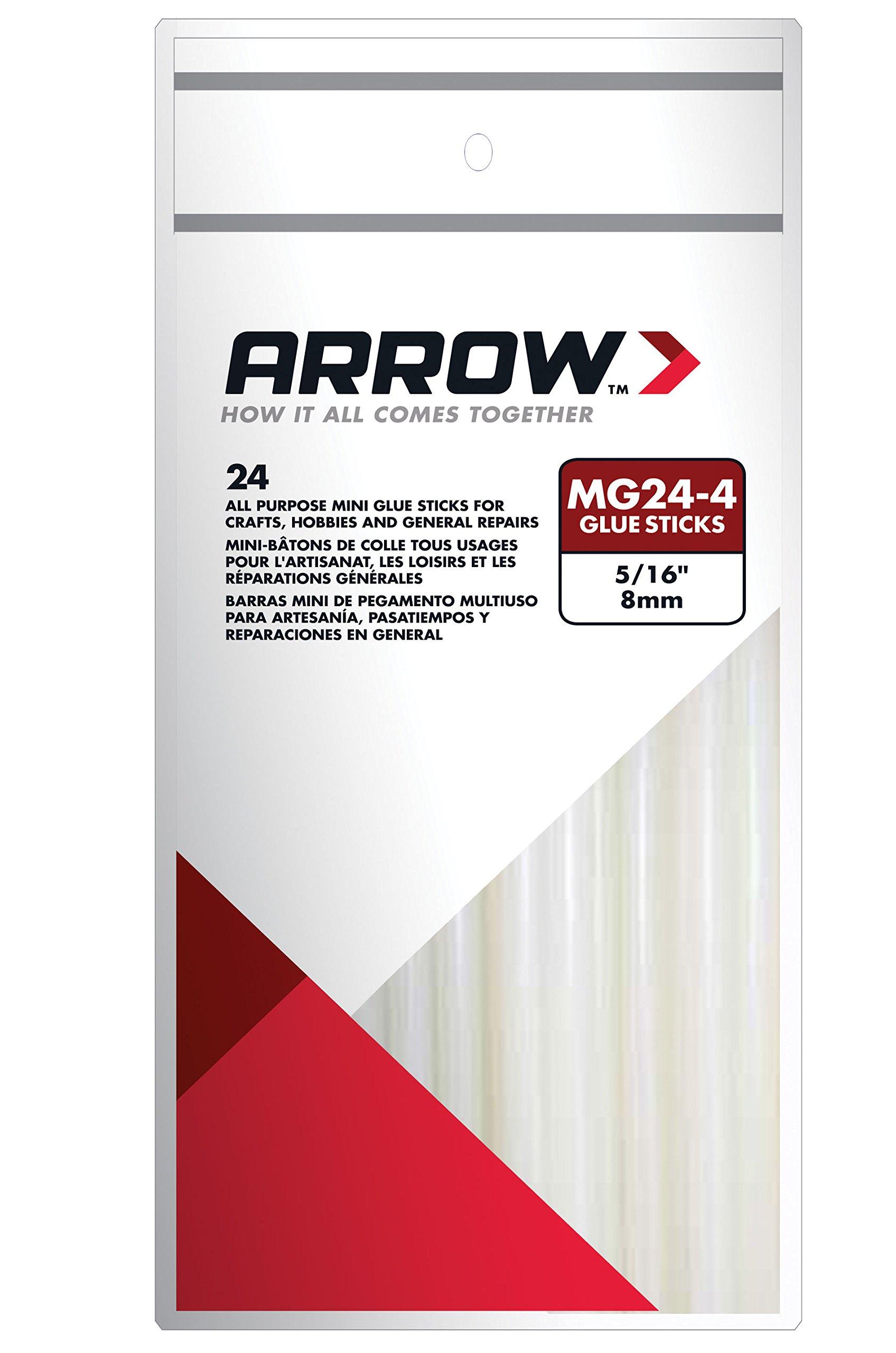 Arrow Fastener MG24-4 All Purpose Mini Glue Sticks, 4-Inch, 24-Pack