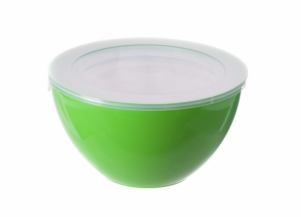 Wholesale Customized Color Mixing Bowl Plastic Salad Bowls With Lids