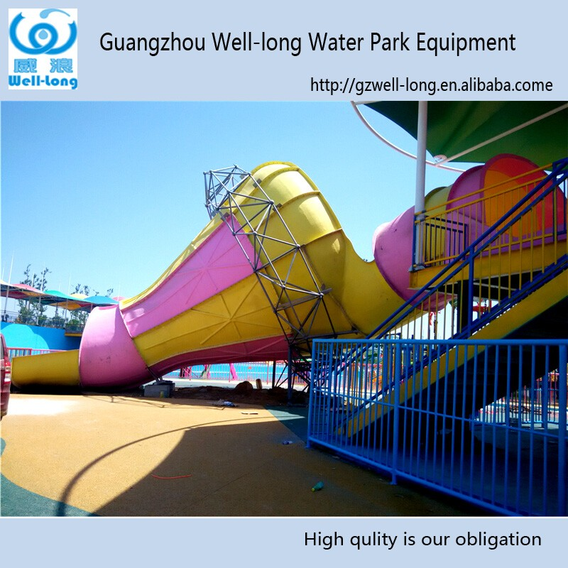 2016 Professioal Amusement Water Slide Park slide <strong>manufacturers</strong> Small trumpet slides for sale