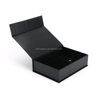 Custom White Top and Bottom Gift Packing Box with Black Logo