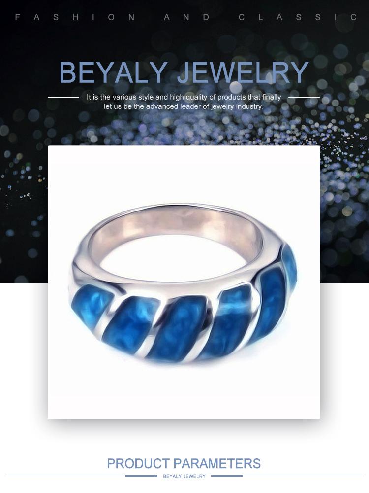Simple cheap men blue ceramic jewelry