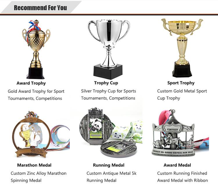 Custom trofei tazza per la champions league trophy artigianato in metallo su misura di rugby trophy