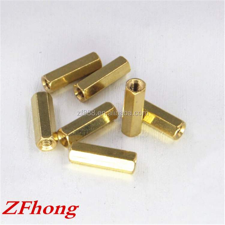 made in china high quality din6334 sleeve hex / hexagon brass coupling nut m3