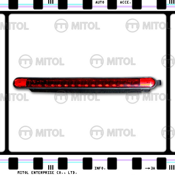 1 lampada LED rosso nero fumo 3rd terzo stop luce freno posteriore per 911/996