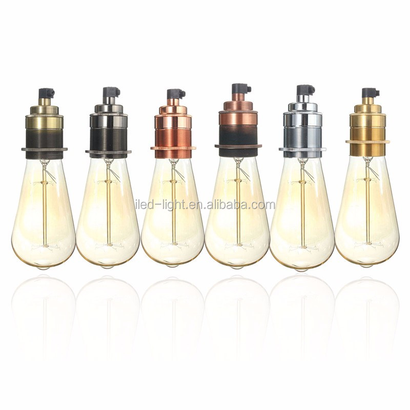 E27 Base Fitting Retro Vintage Edison Thread European style vintage lamp holders antique lighting bulb socket E27 lamp socket