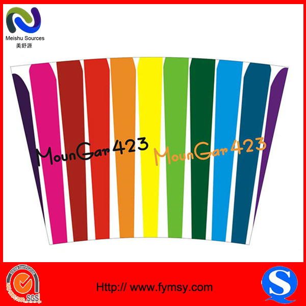 MSY pe laminated colorful paper cup blank