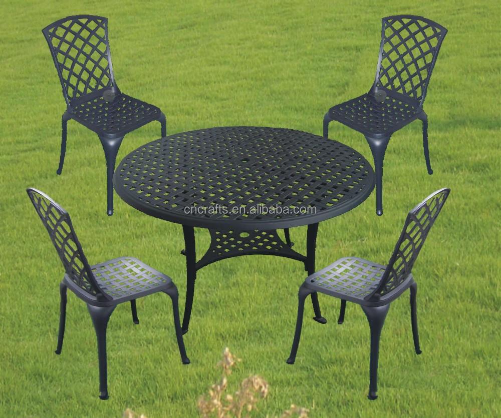 Fundici n de aluminio de jard n juego de comedor mesa for Sillas de jardin de hierro