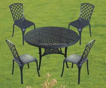 Tavoli In Ghisa Da Giardino.Fusione Di Alluminio Giardino Set Da Pranzo Ghisa Patio Tavolo E