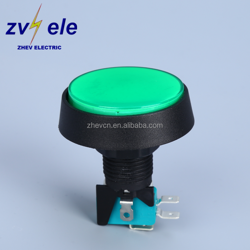 game machine switch diameter 25mm big round 61mm head push button switch momentary 12v 50w led