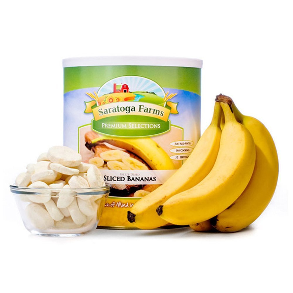 Saratoga Farms Freeze Banana, #1 Emergency Food Storage, 32 Servings with 20-30 Year Shelf-Life in #10 Can (Save More with 2,3,4, or 6 Pack)
