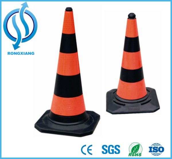 750mm /1000mm Black and Orange PE Cone