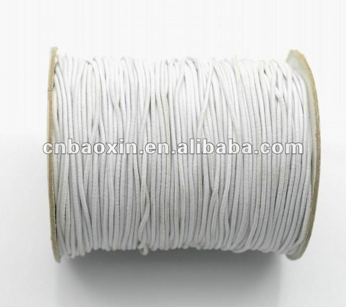 White Round Elastic cord 3mm