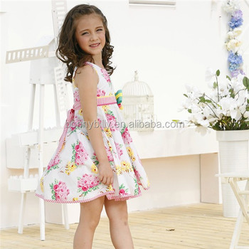 8bb3f356dec Modèles robes décontractées pour filles imprimé floral d été en coton robe  ...