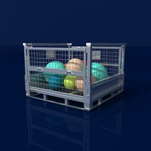 Heavy duty industrial storage mesh box wire cage metal bin container