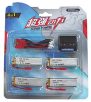 high discharge rate 3.7v rc lipo battery 25c/helicopter battery 600mah 751862 for toy helicopter