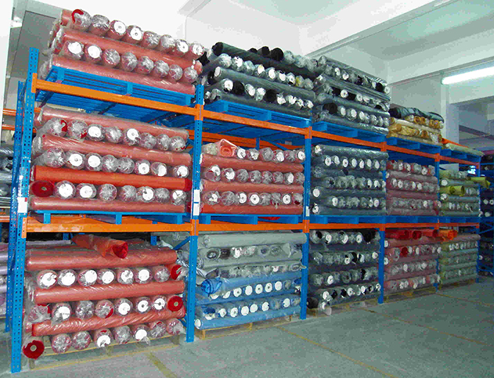 Heavy Loading Storage Rack for Fabric Roll Storage