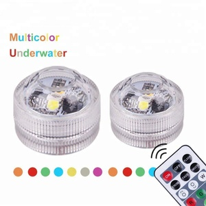 Homemory Battery Mini Color Changing Submersible LED Lights with Remote Control, Waterproof Tea Lights for Party & Wedding