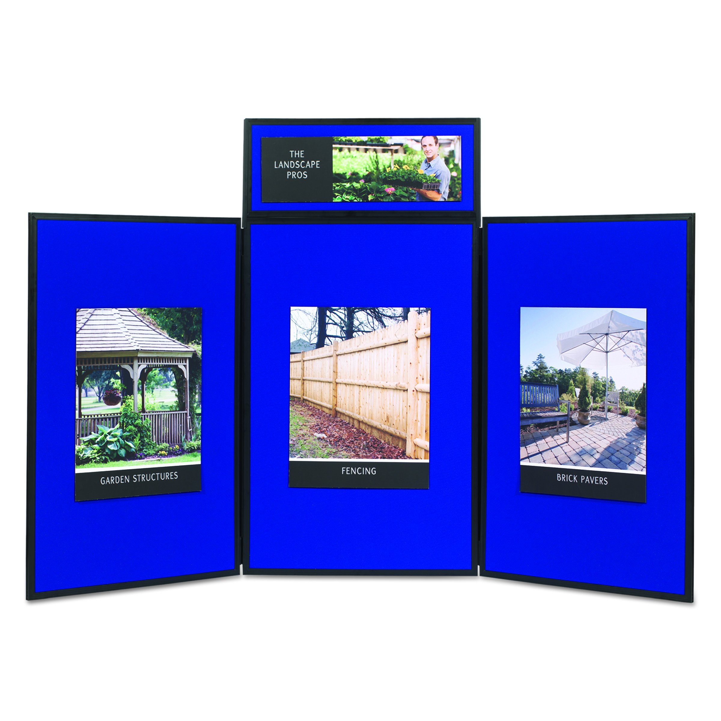 Quartet SB93513Q Show-It! Display System, 72 x 36, Blue/Gray Surface, Black Frame