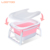 Hot sale safe design foldable portable folding baby plastic bathtub kids bath