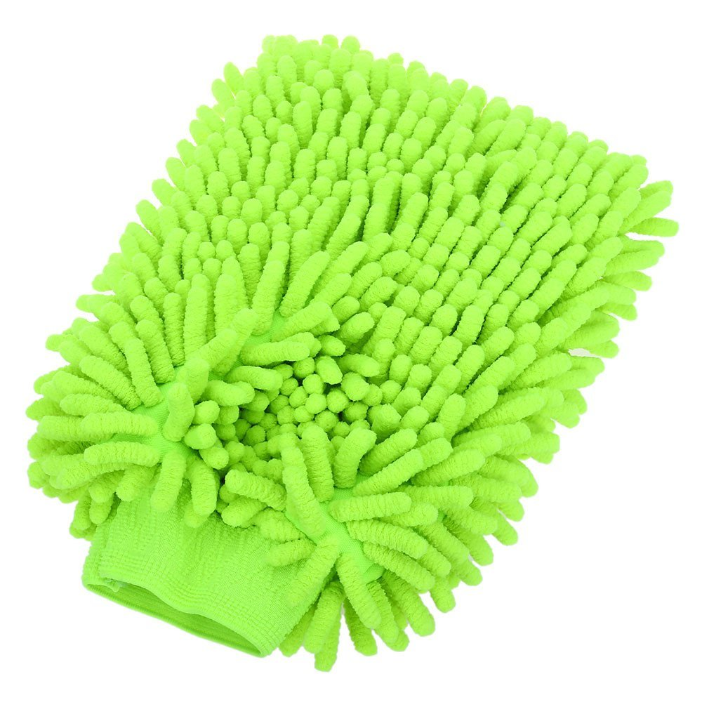 Car Wash Gloves, Super Mitt Microfiber Washing Cleaning Anti Scratch Car Washer and House Cleaning Household Care Brush (1 Pack) Green