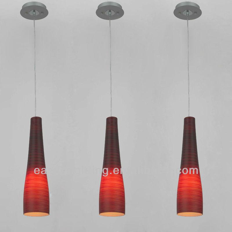 New Modern Dark Red Glass Shade Ceiling Light Pendant Lamp ...