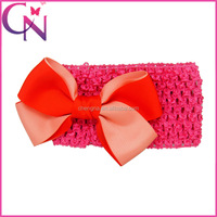 Two Colours Hair Bow With Elastic Band For Baby Girl Cut Hair Accessories