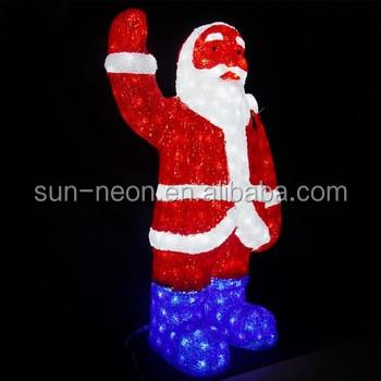 big santa claus led outdoor christmas light sculptures led 3d deer motif light for shopping mall