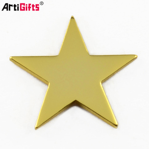 Lapel Pin Manufacturer China Custom Cheap gold star shape lapel pin