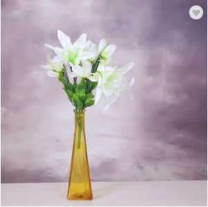 Cheap beautiful tall home decoration glass vases flower