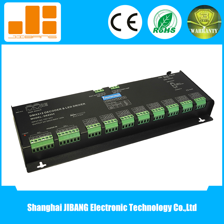 Dmx Decoder 24 Channel Led Dimmer For Rgb Lights - Buy 24