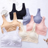 Solid Color Big Size Bra Fitness Sports Top Breathable Tank Top for ladies
