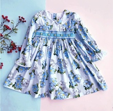 Smocked <span class=keywords><strong>vêtements</strong></span> filles fleur robes manches longues bébé frock <span class=keywords><strong>enfants</strong></span> tenue <span class=keywords><strong>enfants</strong></span> <span class=keywords><strong>vêtements</strong></span> en gros lots 1
