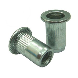 High quality stainless steel 304 316 Knurled flat head hexagon insert rivet nuts