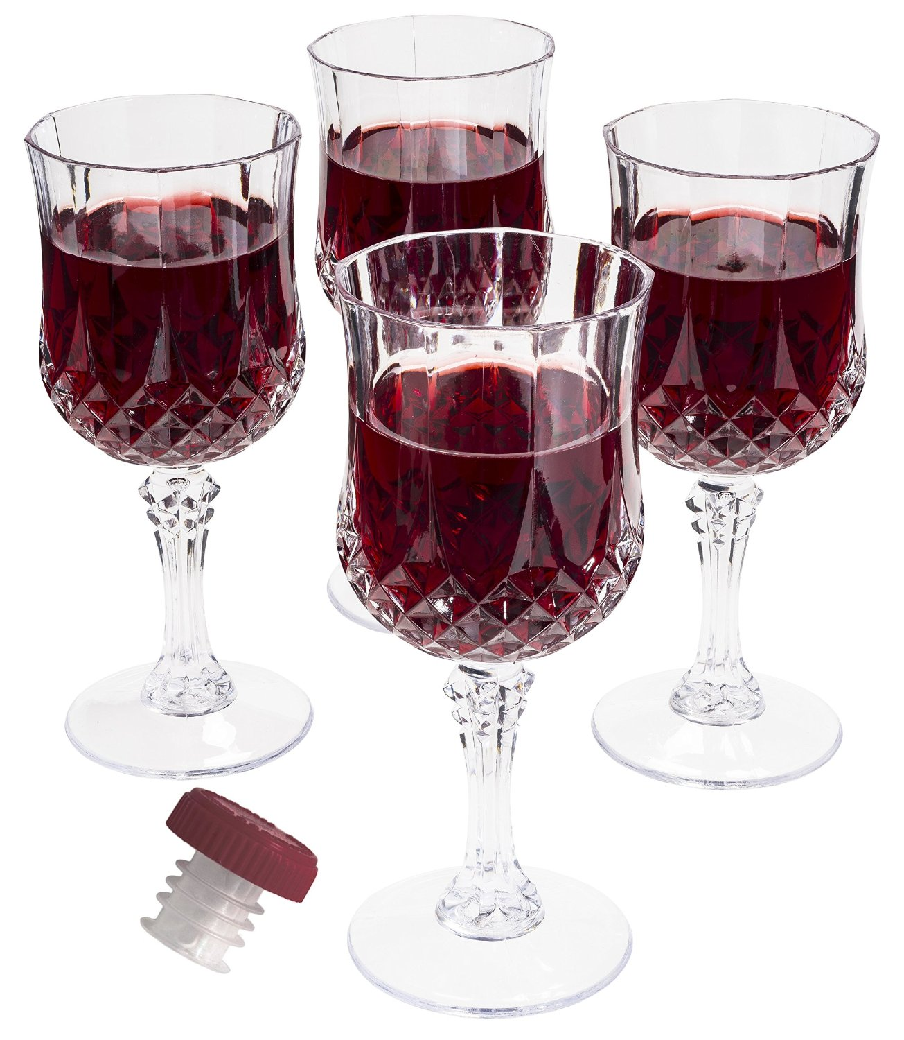 Get Quotations Prexware Set Of 8 Unbreakable Wine Gles Acrylic Cryslal Like