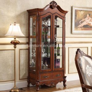 wood dining room hutch