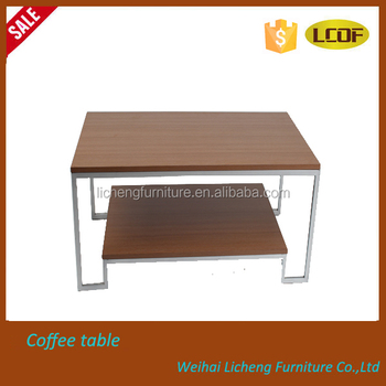Square Coffee Table/MFC Coffee Table Metal Legs Tea Table