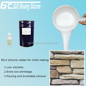 condensation rtv-2 silicone rubber for concrete fiberglass mold making