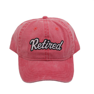 d07966389cf stone washed unstructured 6 panel embroidery baseball cap with custom logo  patch and brand distressed dad