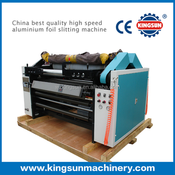 China best quality high speed aluminium foil slitting machine