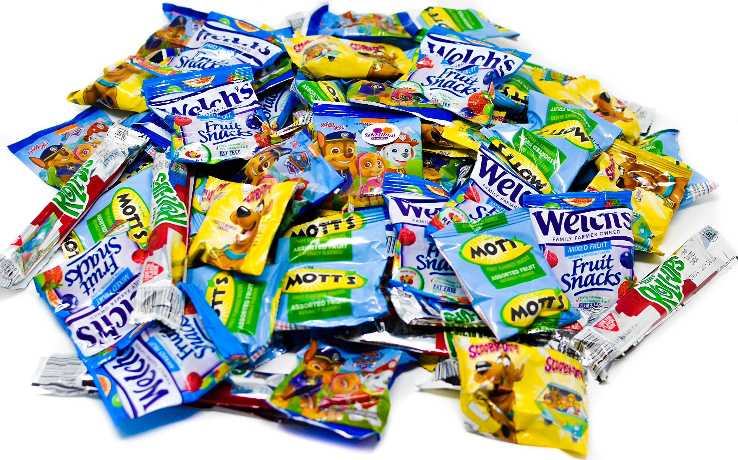 Fruit Snacks Variety Pack, 68 Count Mixed Fruit Snacks Assortment, Ideal Fruit Snacks For Kids - Fruit Snacks Bundle Includes Mott's, Welch's, Scooby Doo, Paw Patrol, and Fruit Rollups