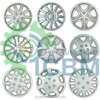 Car Wheel Covers rim wheel cover PP ABS Material Silver Chrome 13 14 15 16 inch plastic car wheel cover