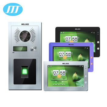 Melsee Ip-video-türsprech-fingerabdruck-gegensprechanlage Für Haus / Villa  - Buy Fingerprint Intercom System,Video-türsprech Fingerabdruck,Ip Video ...