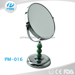 PRiME Metal ball chain stem plastic table vanity mirror